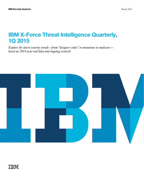 image from IBM X-Force Threat Intelligence Quarterly, 1Q 2015