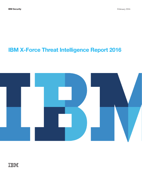 image from X-Force Threat Intelligence Report - 2016