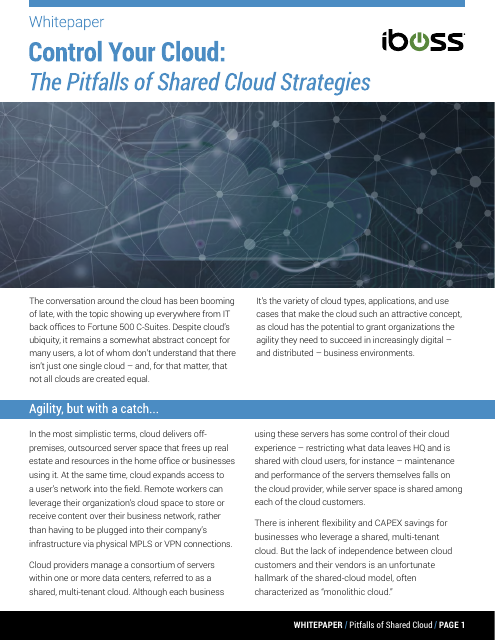 image from Control Your Cloud: The Pitfalls Of Shared Cloud Strategies