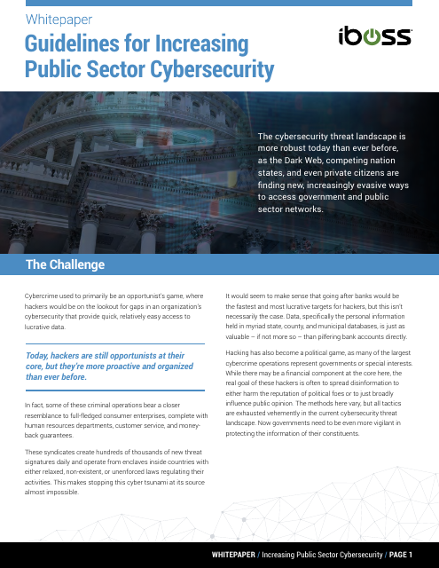 image from Guidelines For Increasing Public Sector Cybersecurity