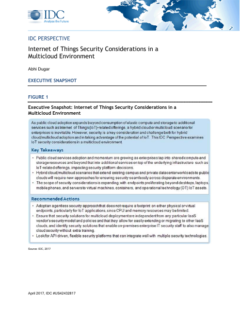 image from Internet of Things Security Considerations In A MultiCloud Environment