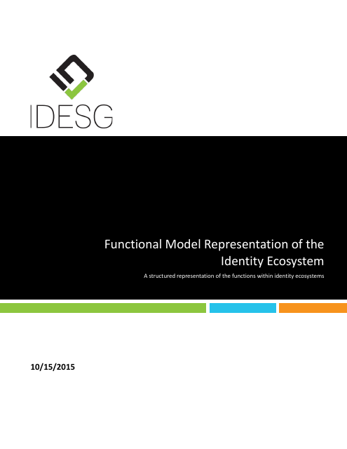 image from Functional Model Representation of the Identity Ecosystem