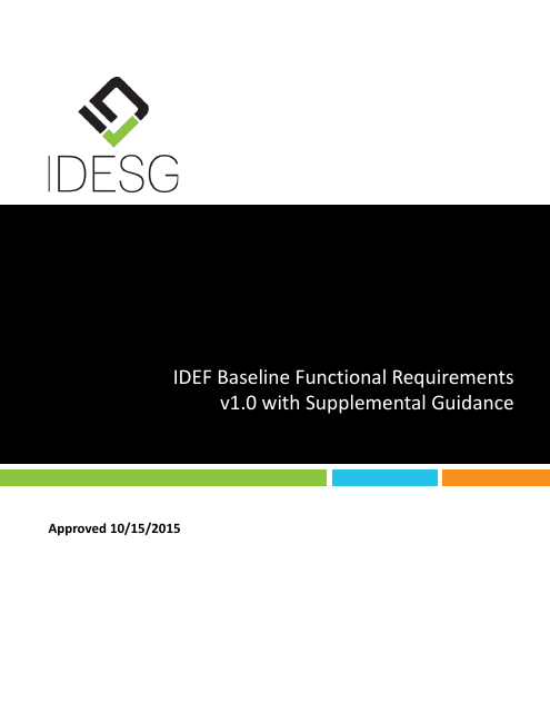 image from IDEF Baseline Functional Requirements v1.0 with Supplemental Guidance