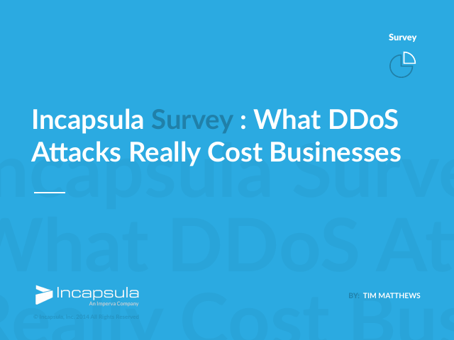 image from Incapsula Survey: What DDoS Attacks Really Cost Businesses