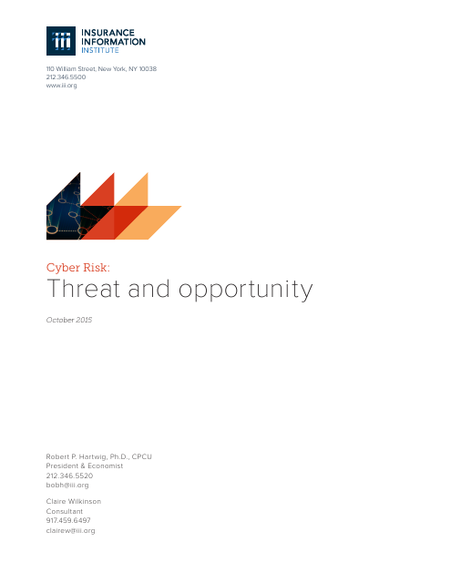 image from Cyber Risk: Threat and Opportunity