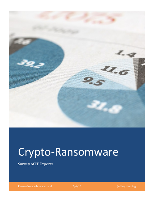 image from Crypto-Ransomware Survey Results 2016