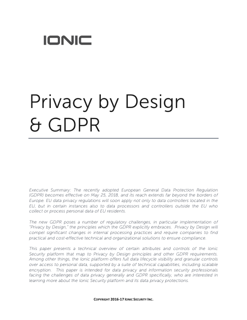 image from Privacy by Design & GDPR