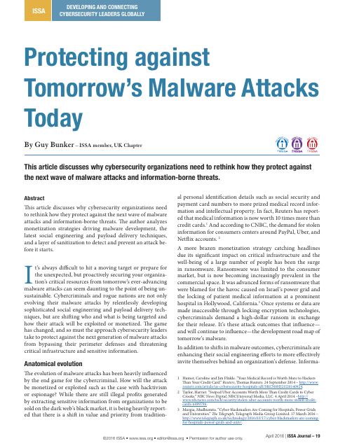 image from Protecting Against Tomorrow's Malware Attacks Today