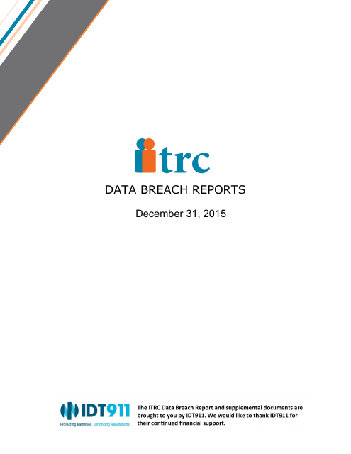 image from 2015 Data Breach Reports