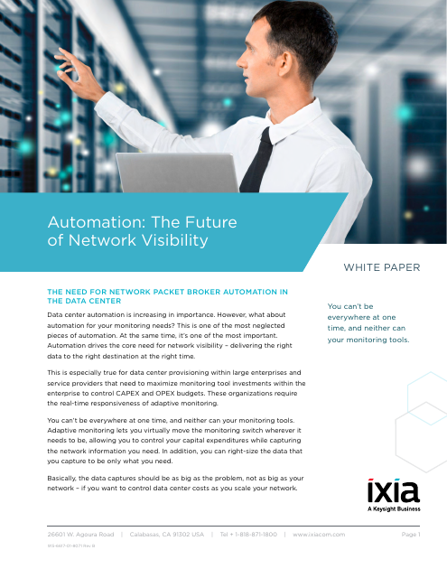 image from Automation: The Future Of Network Visibility