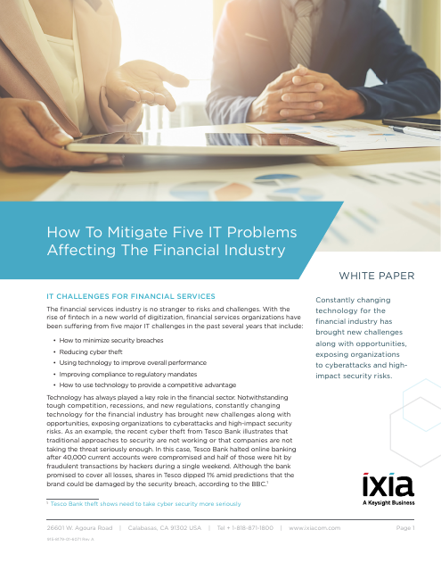 image from How To Mitigate Five IT Problems Affecting The Financial Industry