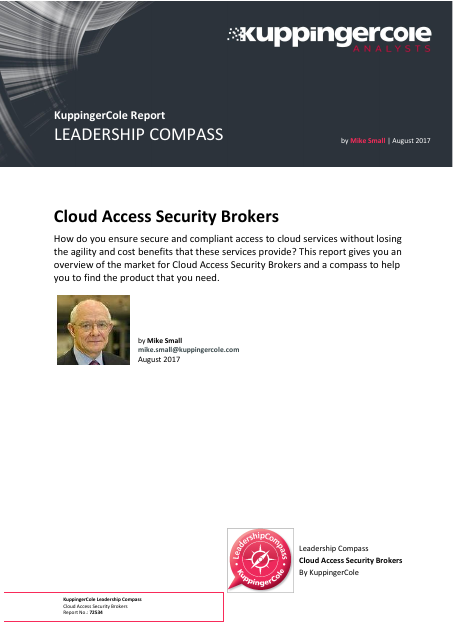 image from Leadership Compass: Cloud Access Security Brokers