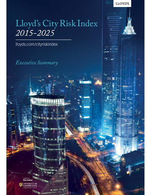 image from Lloyds City Risk Index 2015-2025