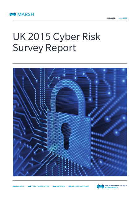 image from UK 2015 Cyber Risk Survey Report