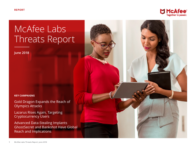 image from McAfee Labs Threats Report June 2018