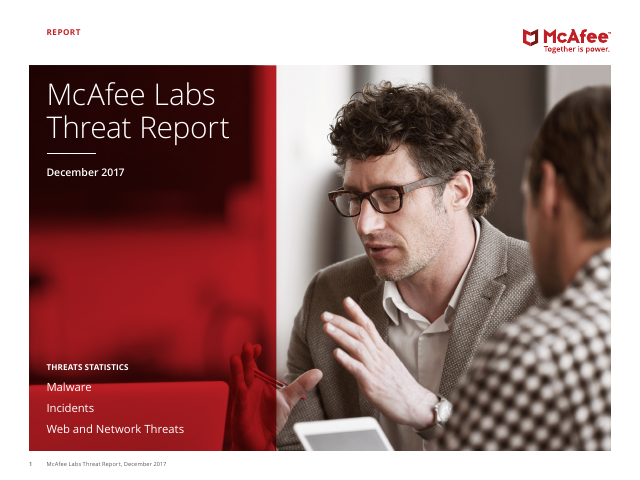 image from McAfee Labs Threat Report December 2017