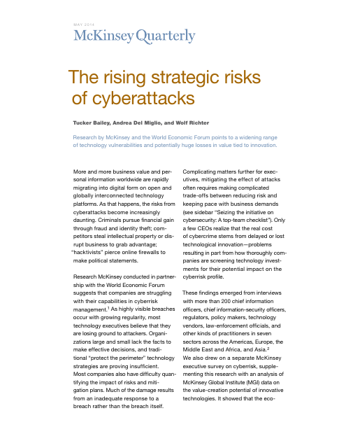 image from The Rising Strategic Risks of Cyberattacks