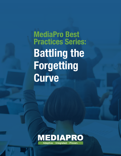 image from MediaPro Best Practice Series: Battling The Forgetting Curve