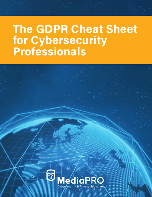 image from GDPR Cheat Sheet For Cybersecurity Professionals