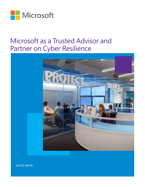 image from Microsoft As A Trusted Advisor And Partner On Cyber Resilience