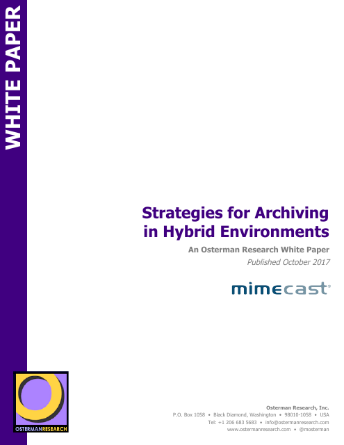 image from Strategies For Archiving In Hybrid Environments