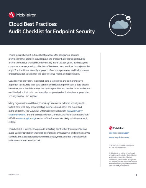 image from Cloud Best Practices:Audit Checklist For Endpoint Security