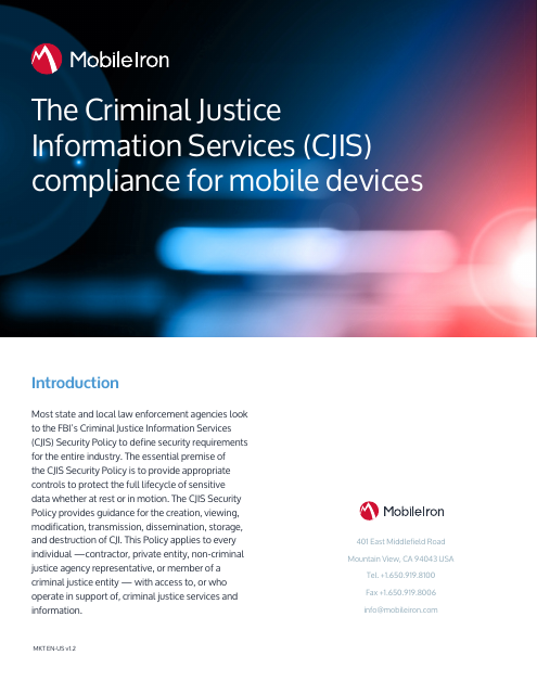 image from The Criminal Justice Information Services Compliance For Mobile Devices