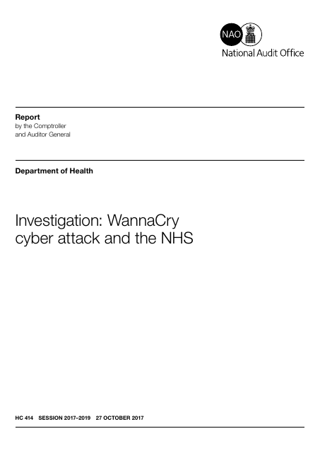 image from Investigation: WannaCry Cyber Attack And The NHS