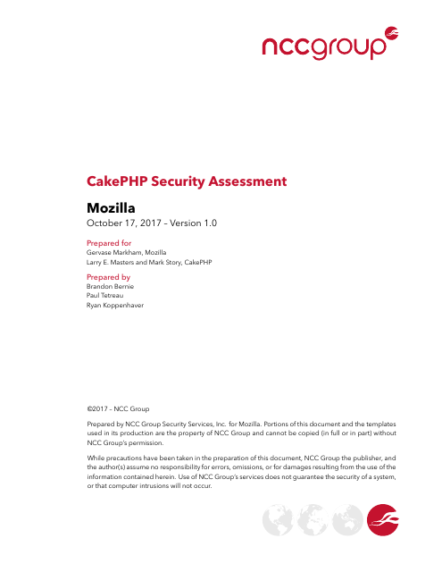 image from CakePHP Security Assessment