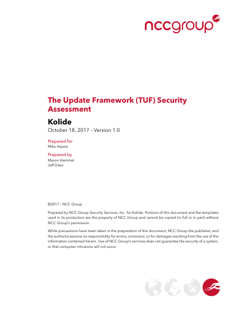 image from The Update Framework Security Assessment
