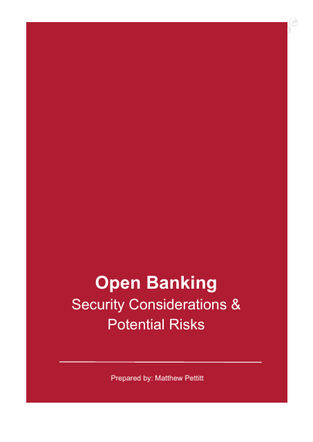 image from Open Banking Security Considerations And Potential Risks