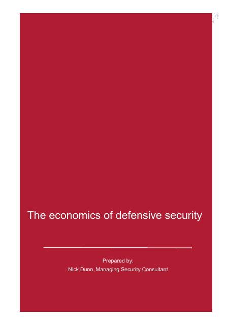 image from The Economics Of Defense Security