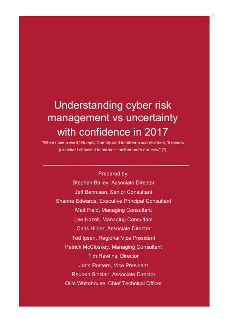 image from Understanding Cyber RIsk Management vs Uncertainty With Confidence