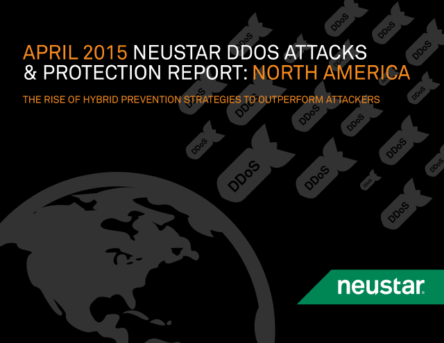 image from Neustar DDOS Attacks & Protection Report:North America
