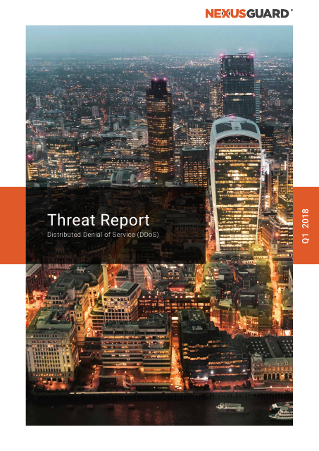 image from DDoS Threat Report Q1 2018