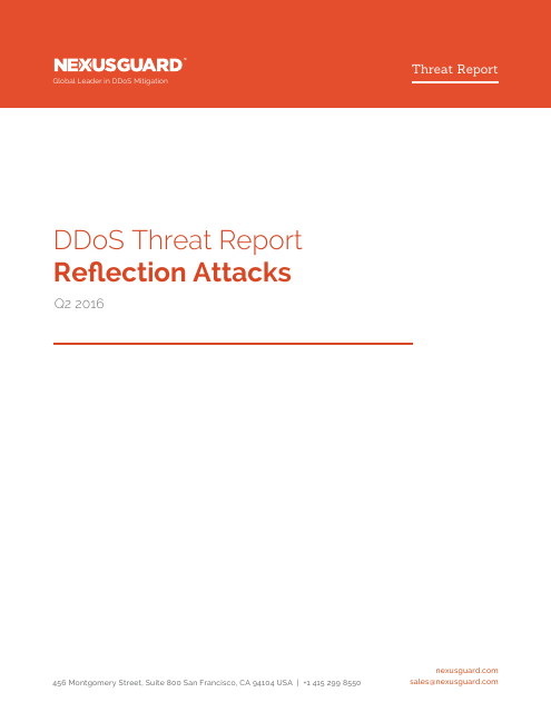 image from DDoS Threat Report Q2 2016