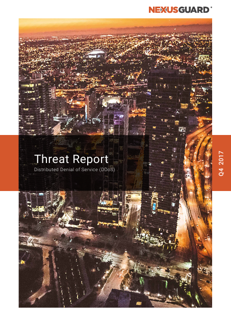 image from DDoS Threat Report Q4 2017