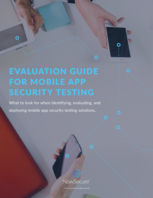 image from Evaluation Guide For Mobile App Security Testing