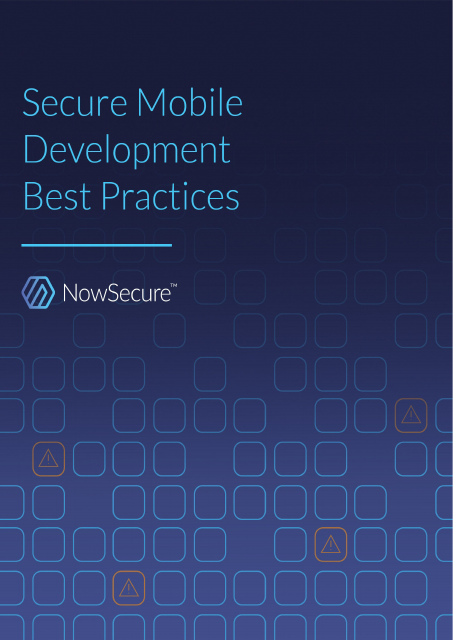 image from Secure Mobile Development Best Practices