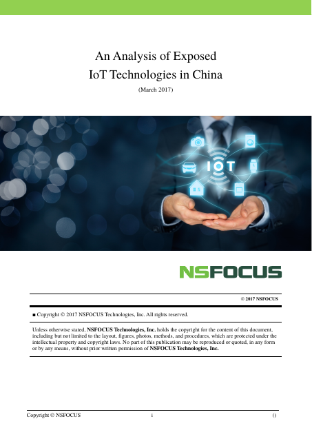 image from An Analysis Of Exposed IoT Technologies in China