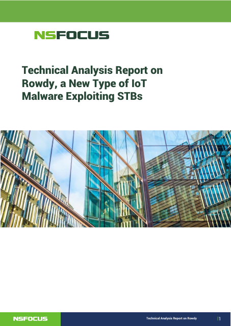 image from Technical Analysis Report On Rowdy, A New Type Of IOT Malware Exploiting STB's