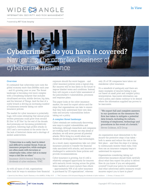 image from Cybercrime - Do You Have it Covered?