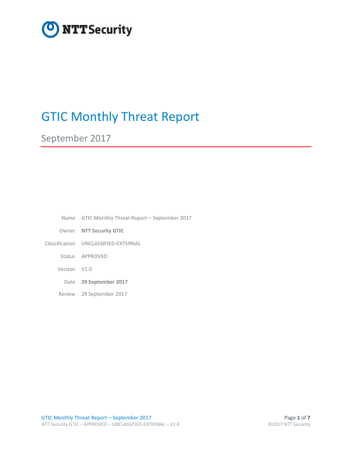 image from GTIC Monthly Threat Report September 2017