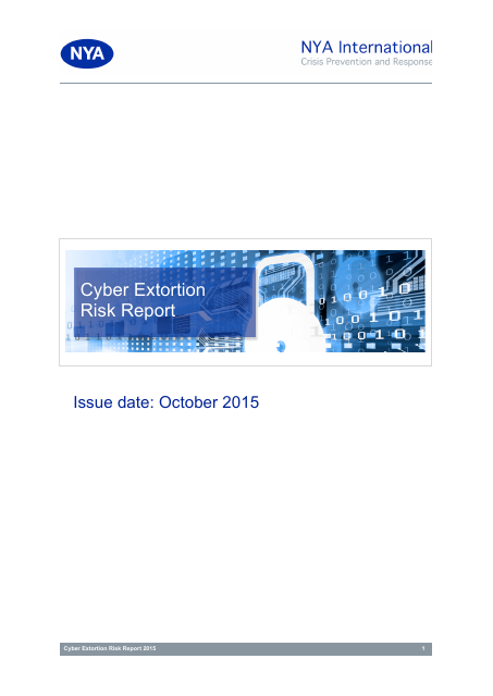 image from Cyber Extortion Risk Report
