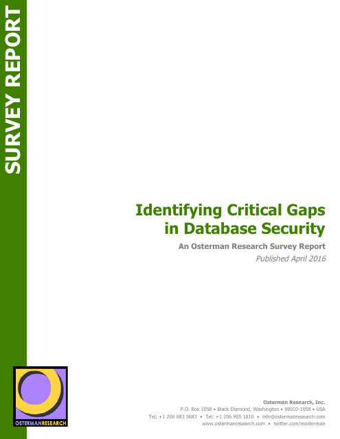 image from Identifying Critical Gaps in Database Security