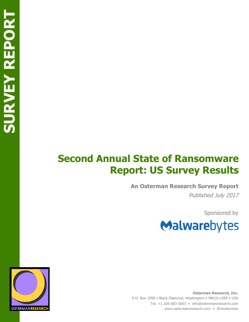 image from Second Annual State of Ransomware Report: US Survey Results