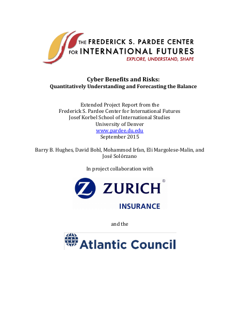image from Cyber Benefits and Risks: Quantitatively Forecasting and Understanding the Balance