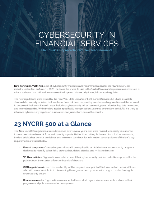 image from Cybersecurity In Financial Services