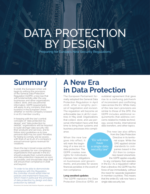image from Data Protection By Design
