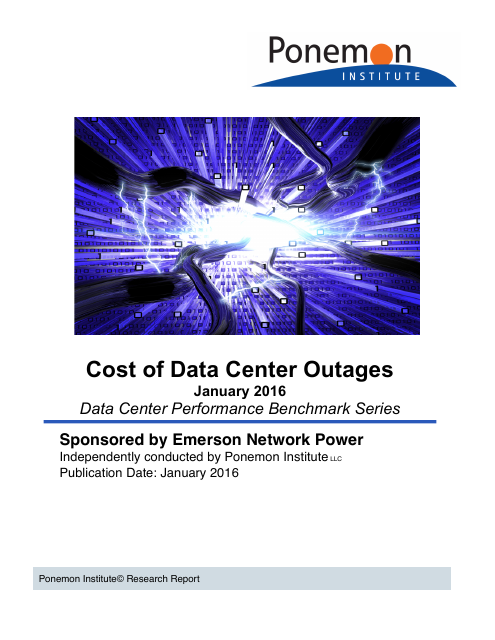 image from 2016 Cost of Data Center Outages